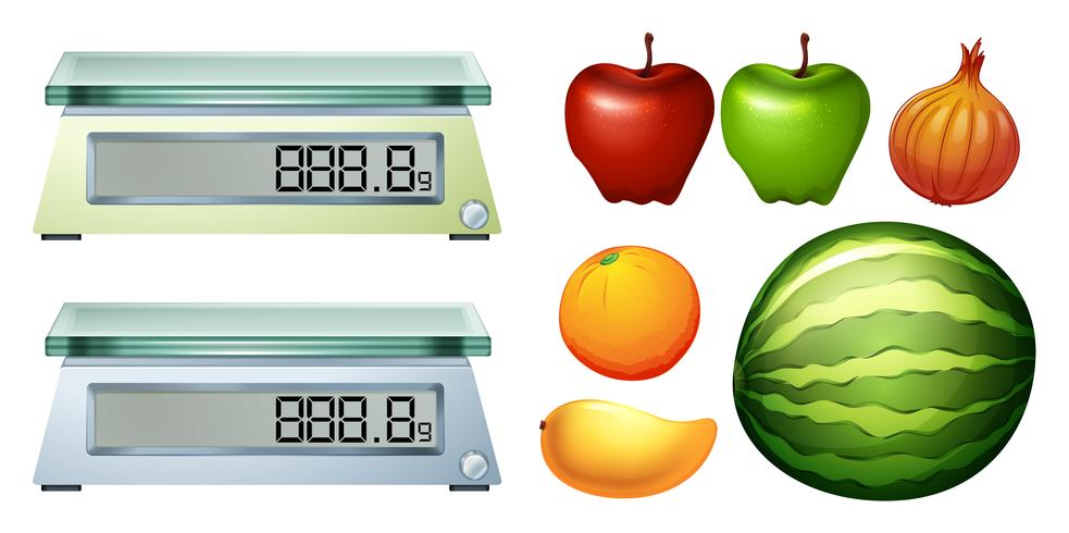 Measurement scales and fresh fruits