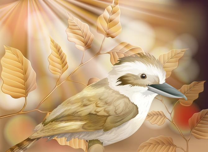 Um pequeno pássaro na natureza