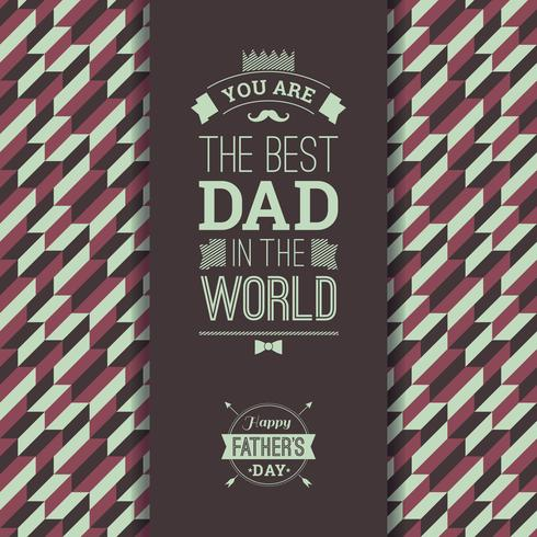 Happy Father s Day Card In Retro Style.  vector