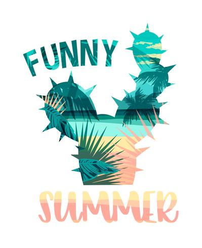 Cópia tropical do verão da praia com slogan para t-shirt, cartazes, cartão e outros usos.