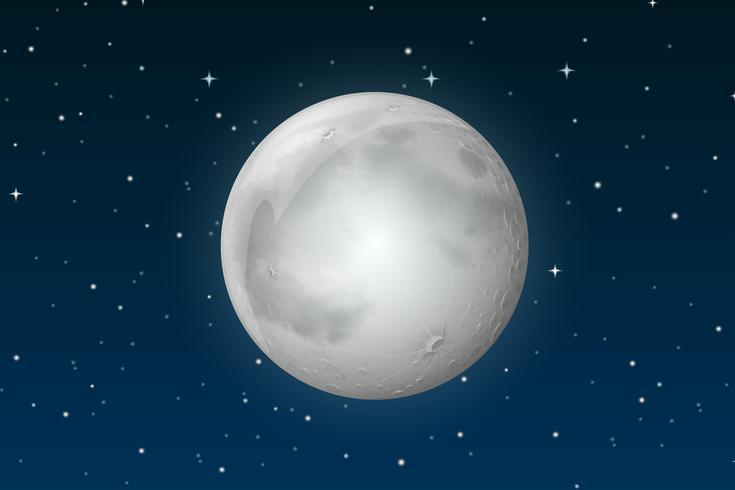 The moon on sky vector
