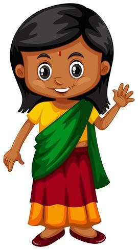 Kleines Mädchen aus Srilanka winkt