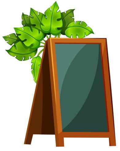 An empty menu board with plants vector