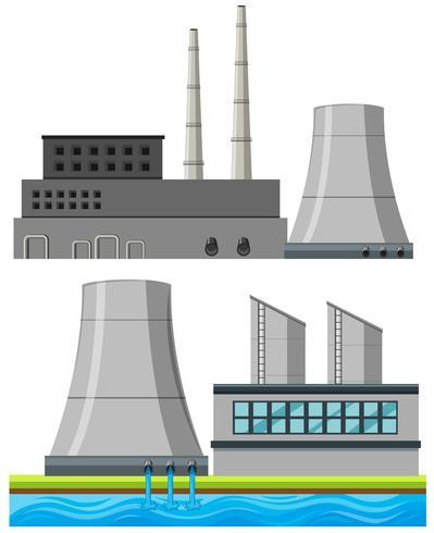 Conjunto de edificios de fábrica.