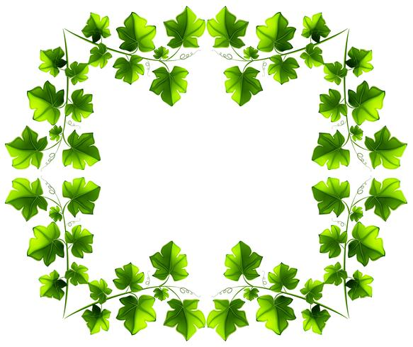 Leafy border design vector