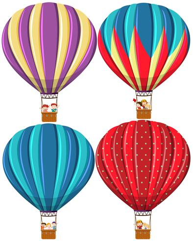 Set of different hot air balloon vector