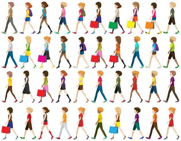 Gruppe von Menschen zu Fuß