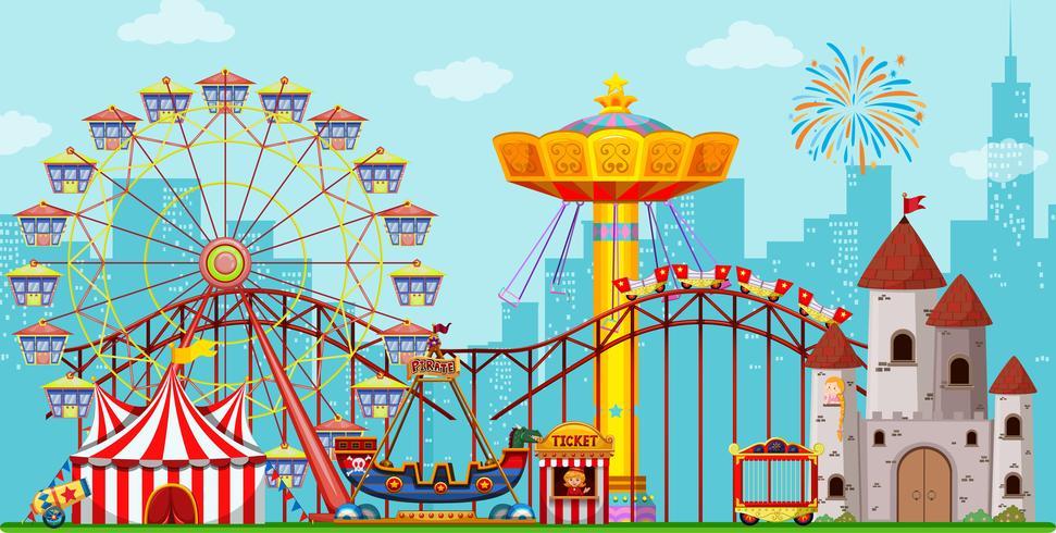 Fun amusement park background