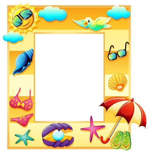 An empty template for summer vector