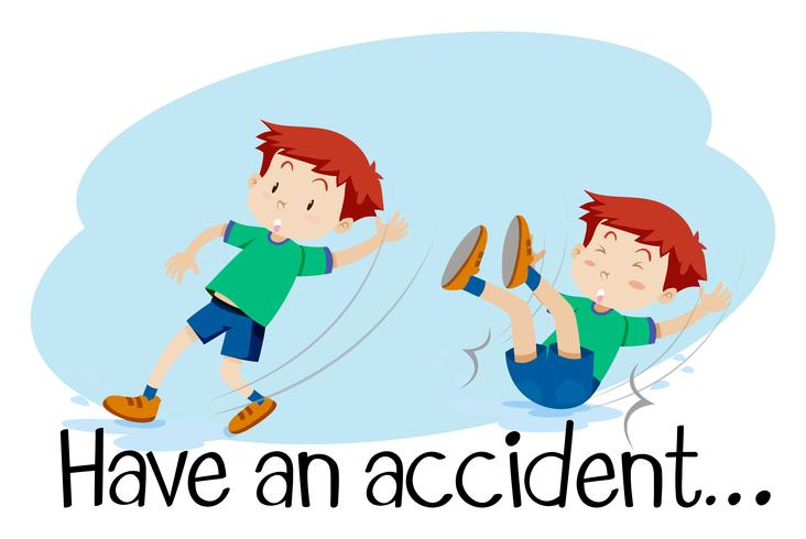 A Boy Having an Accident vector