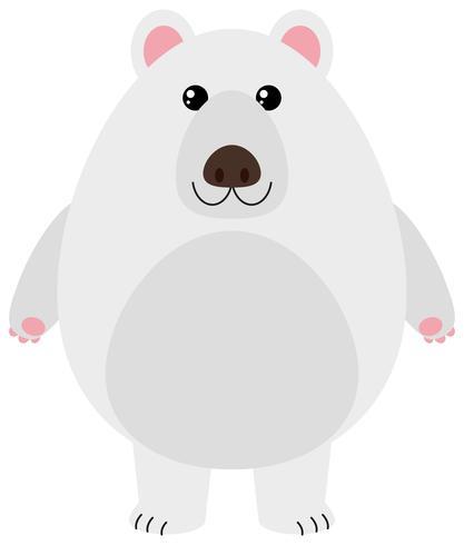 Polar bear with happy face vector