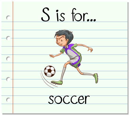 Flashcard letra S es para futbol