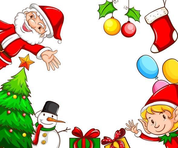 Marcos con decoraciones navideñas.