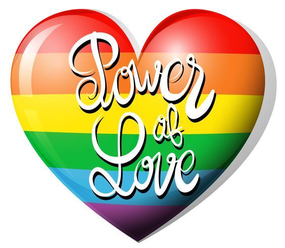 Kracht van liefde en regenbooghart