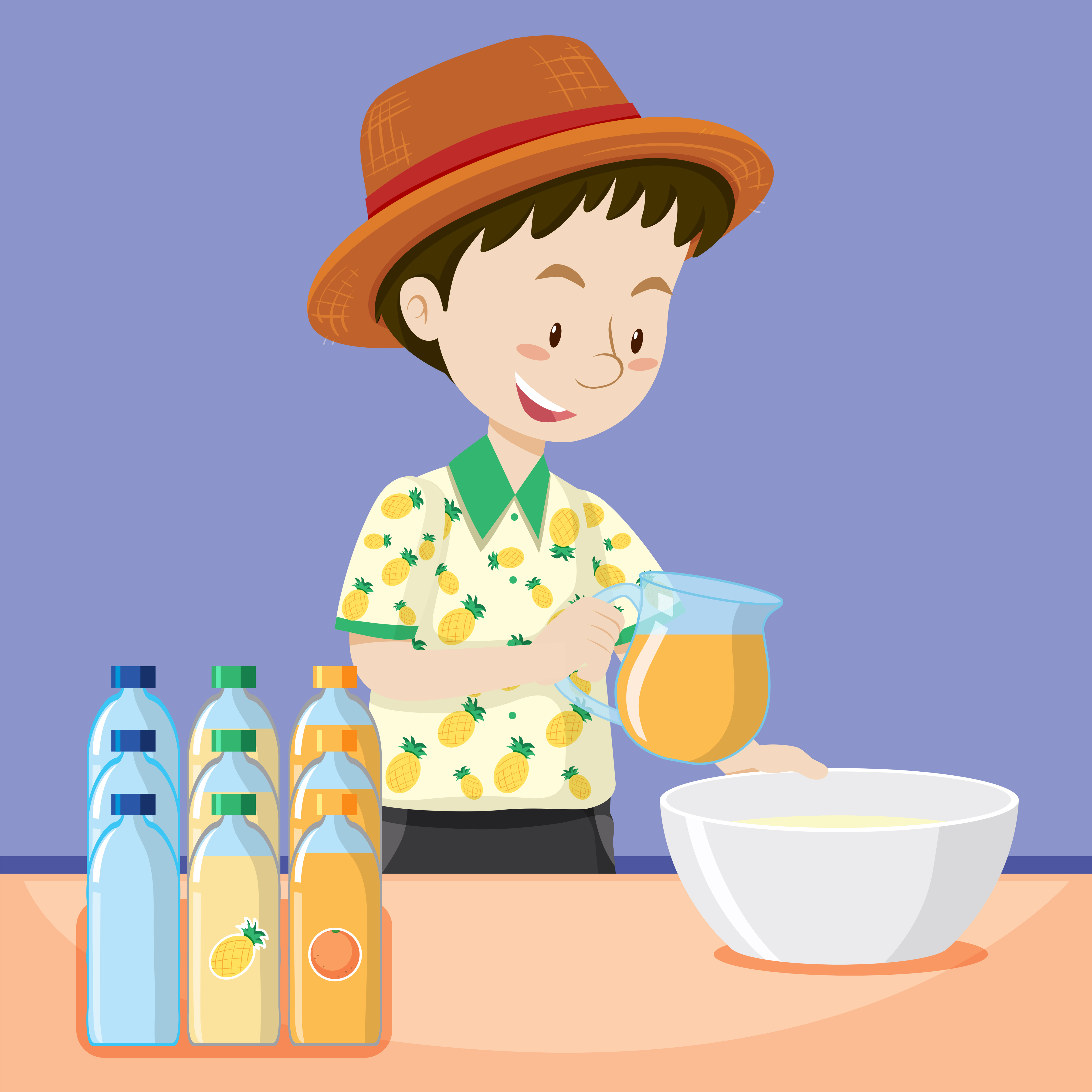 Man making fresh juice - Download Free Vectors, Clipart ...