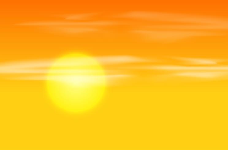 Fond jaune coucher de soleil orange