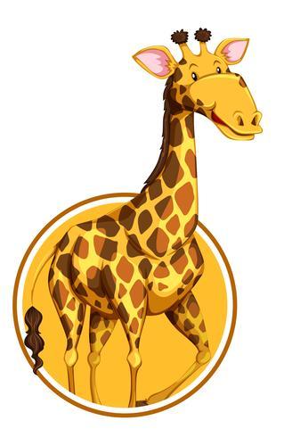 Eine Giraffe auf Aufkleberschablone