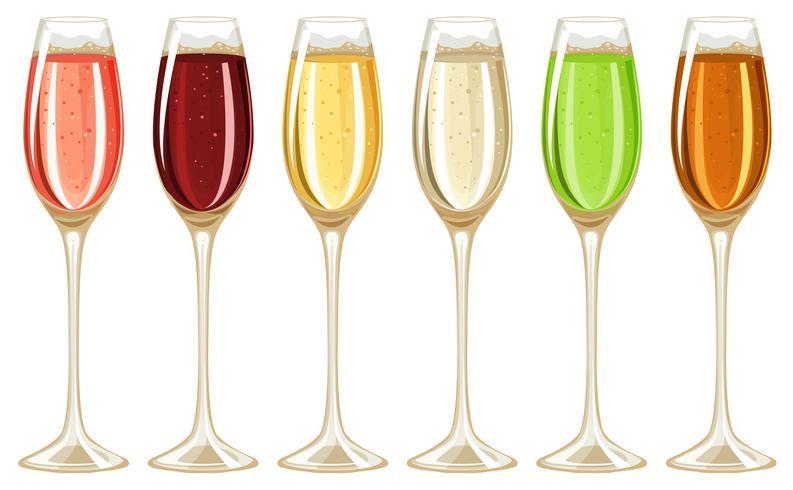 Champagne in bicchiere alto