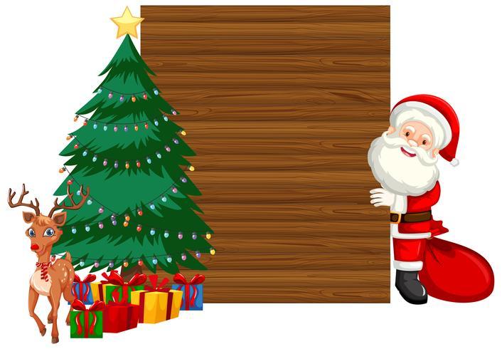 Concept de cadre de Noël en bois