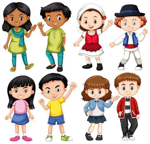 Gruppe von Internationskindern