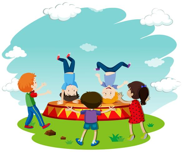 Crianças, breakdancing, fase