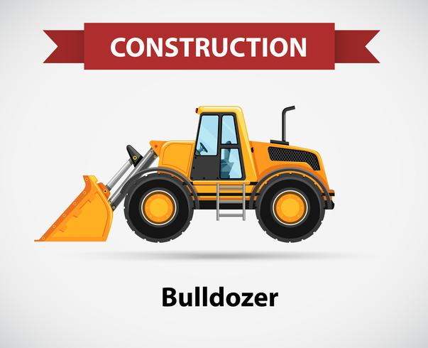 Konstruktion ikon med bulldozer