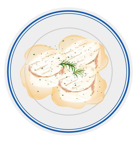 scallops on plate scene vector