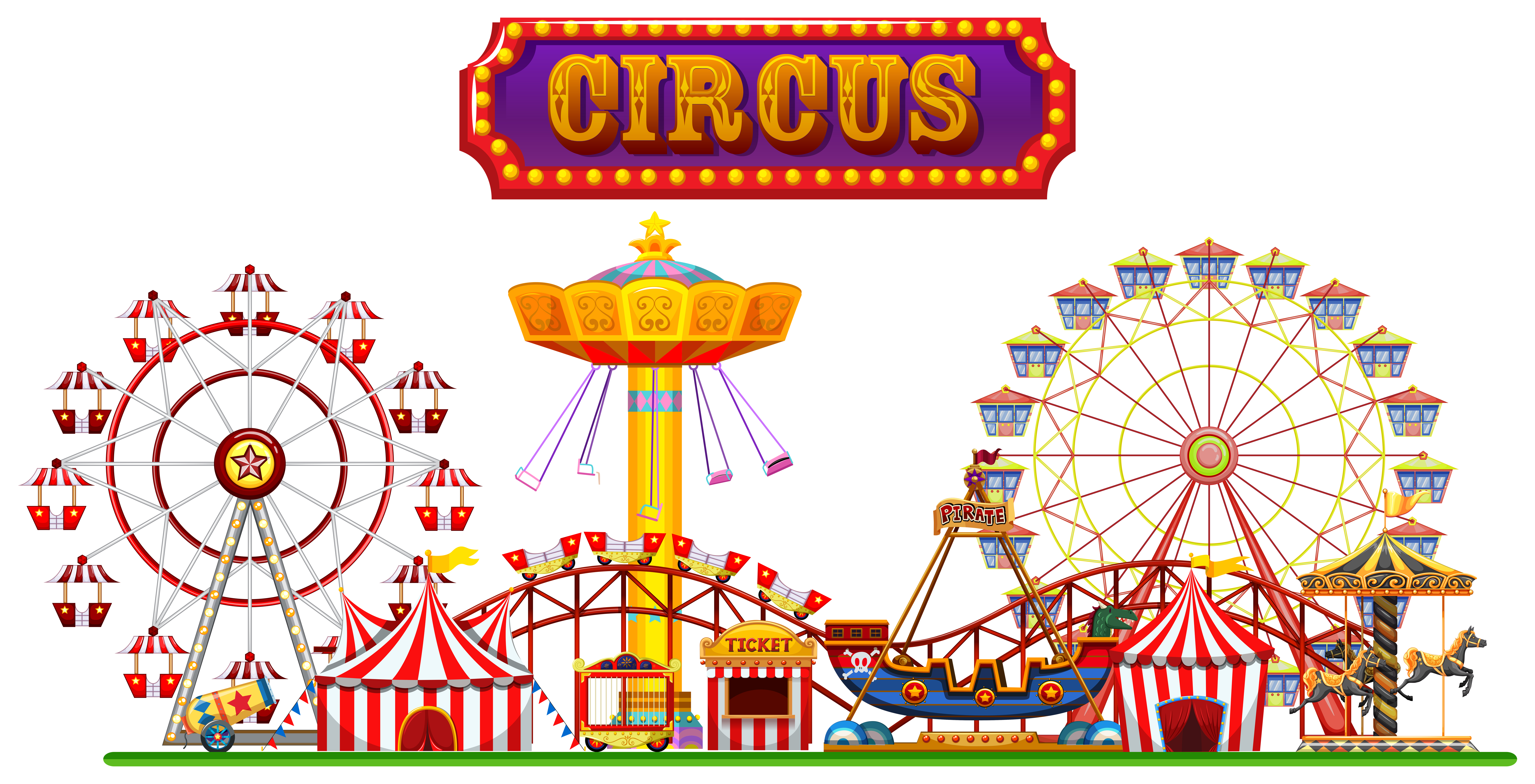 Vintage Circus Poster Background A Circus Fun Fair on W...