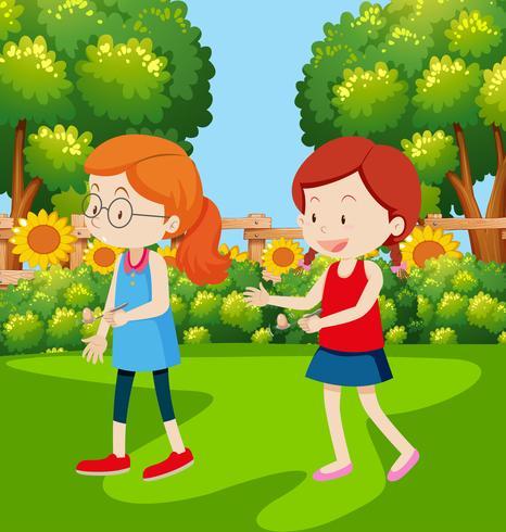 Flickor har ett ägg och sked race