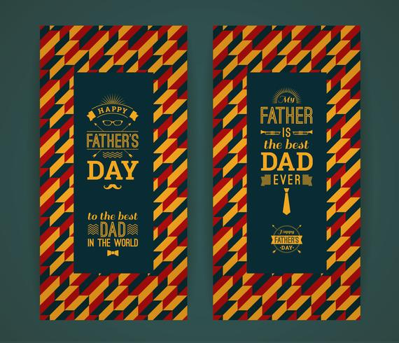 Tarjeta feliz del día de padre en estilo retro.