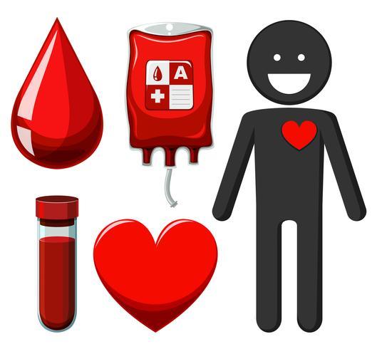 Donación humana y de sangre. vector