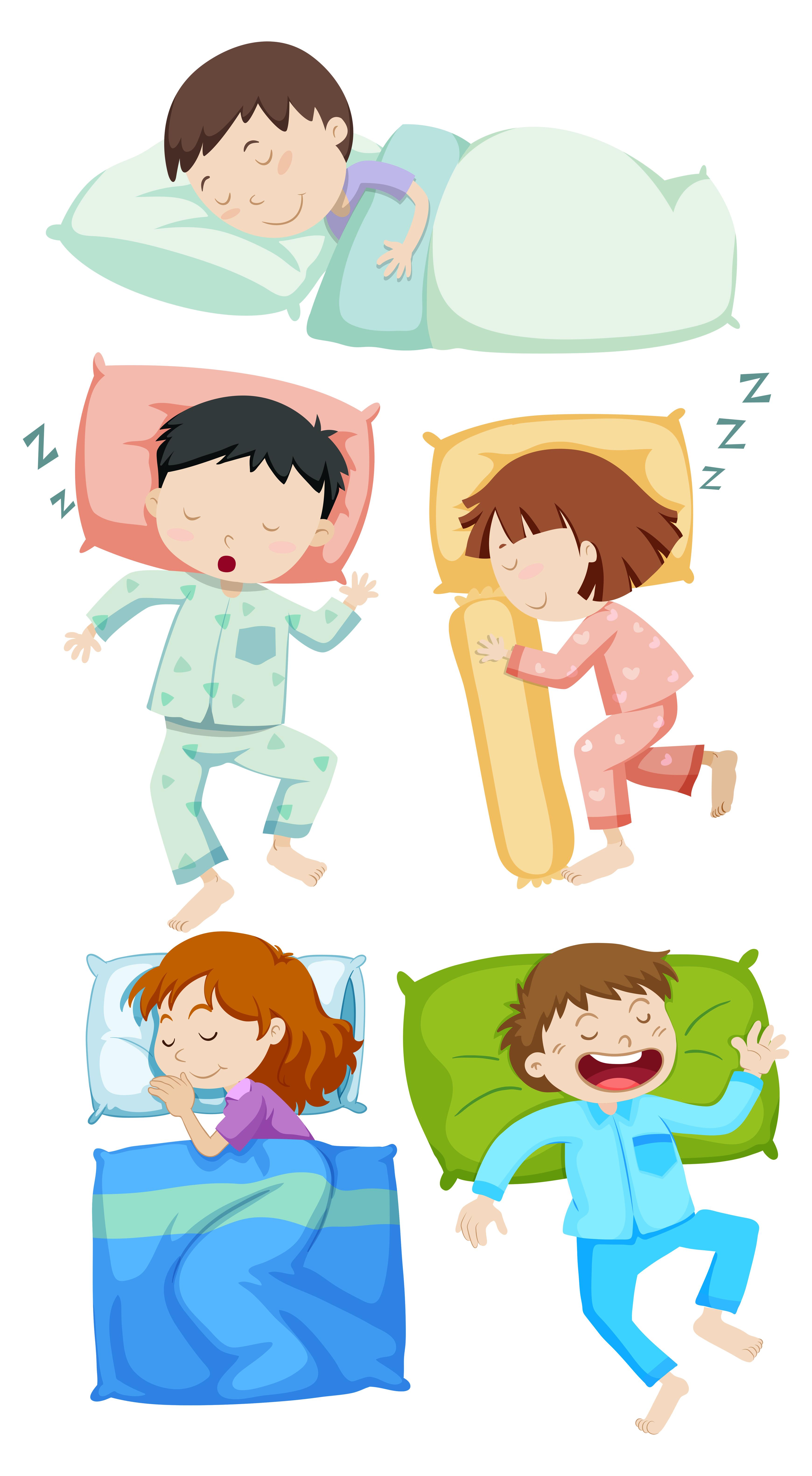 A Set Of Kids Sleeping Download Free Vectors Clipart