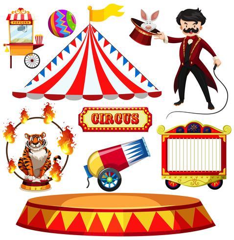 Een set van Fantasy Circus