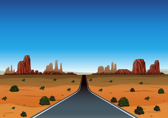 Viagem por estrada pelo deserto