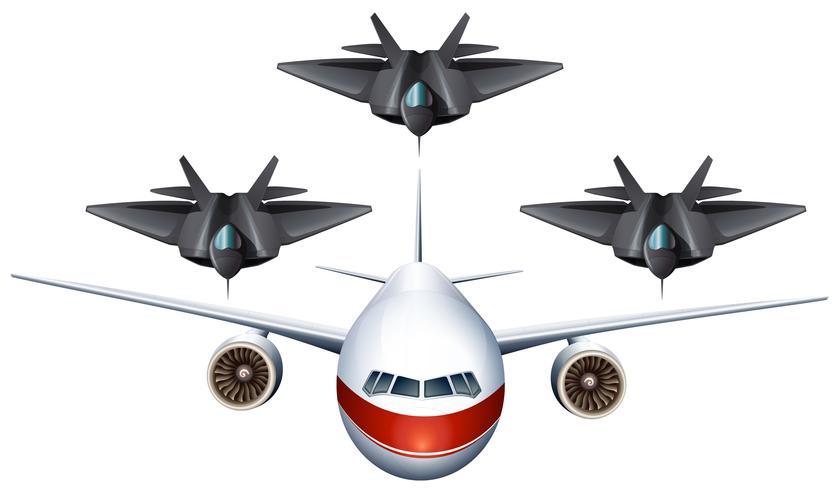 Aerei commerciali e aerei militari