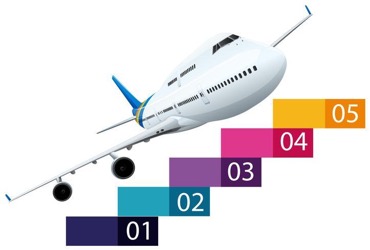 Layout de infra-vermelho com avião