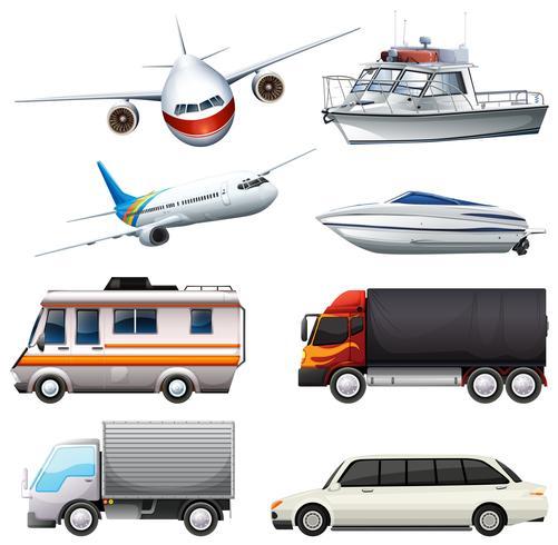 Diferentes tipos de veículos
