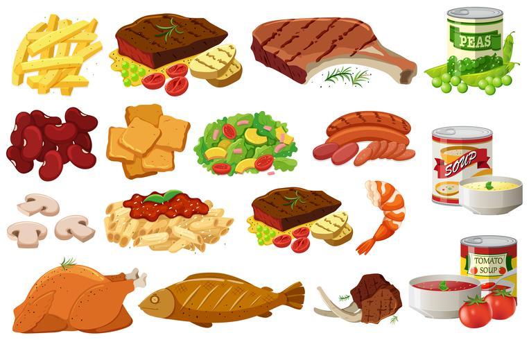 Différents types d'aliments sains