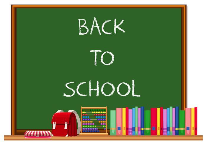 Pizarra de regreso a la escuela