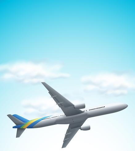Kommersiell flygplan som flyger ovanför