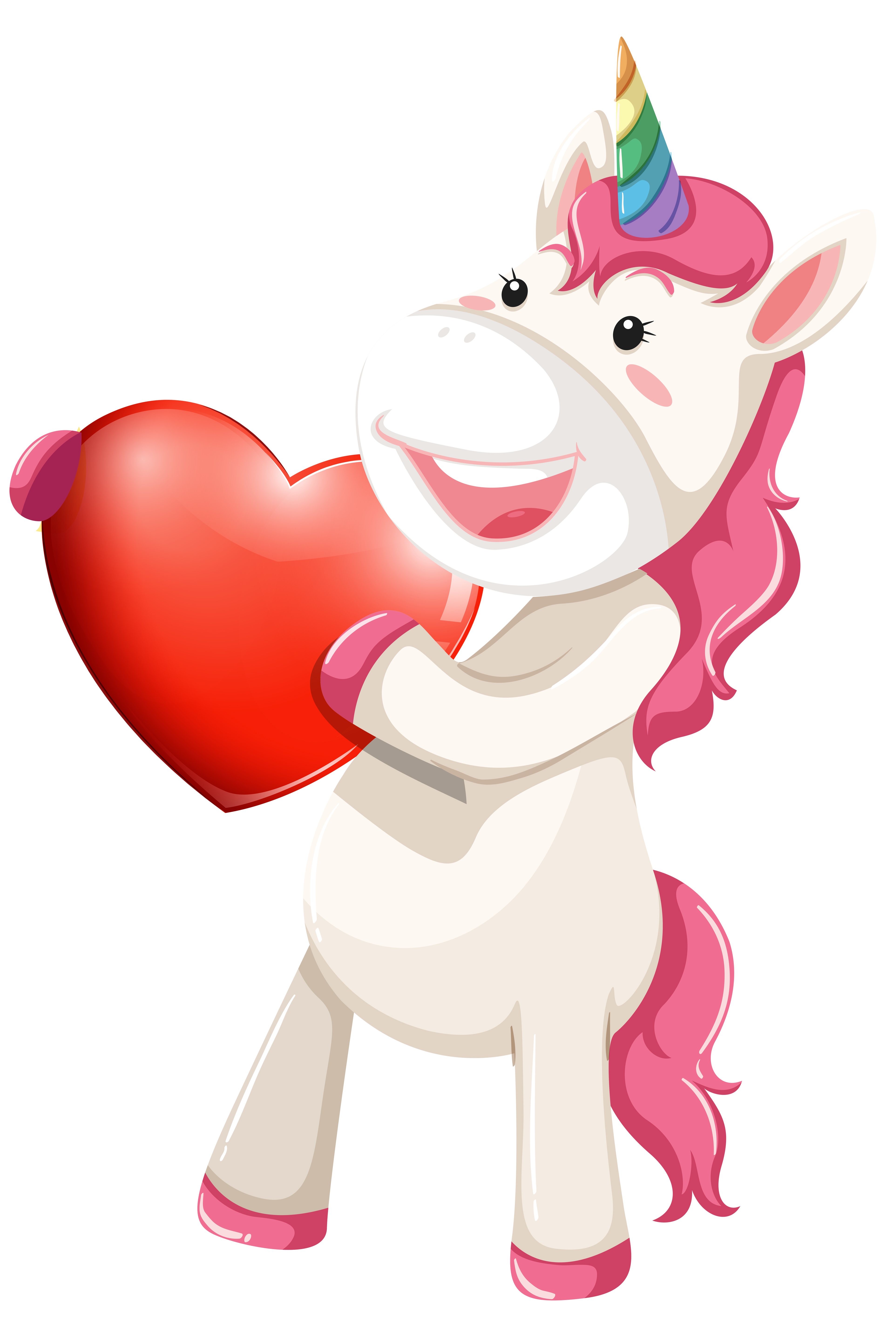 Unicorn character with heart - Download Free Vectors ...