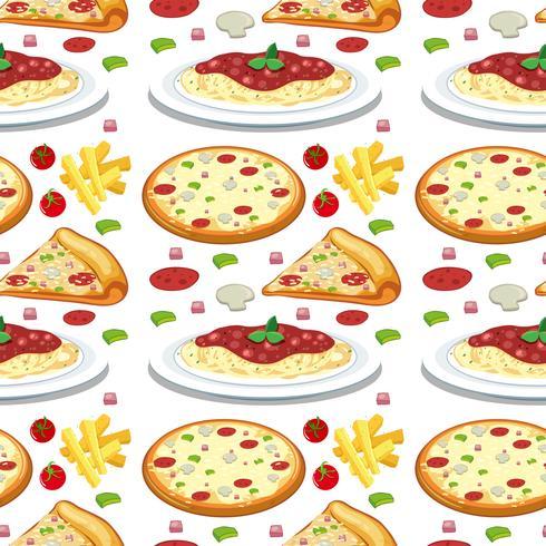Modèle sans couture de pâtes et pizzas