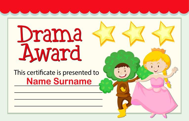 Eine Drama-Auszeichnung vektor
