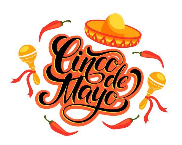 Cinco de Mayo-Schriftgestaltung.