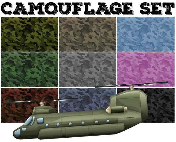 Comouflage definido com tema militar