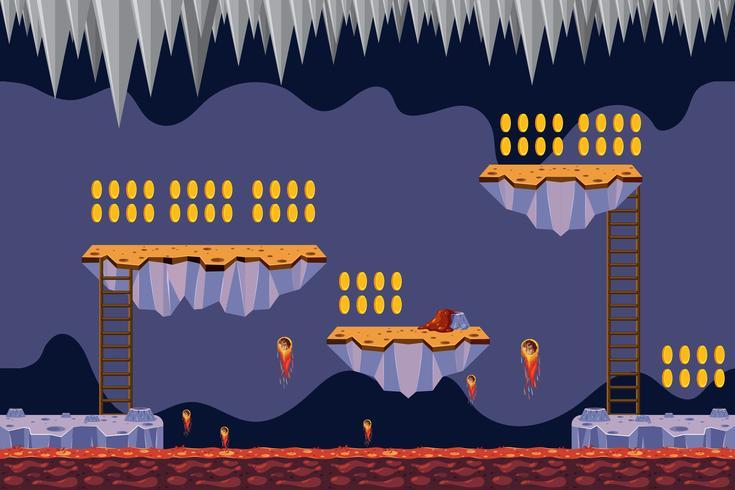 jogo de coleta de moeda lava tema