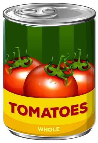 Uma lata de tomates inteiros