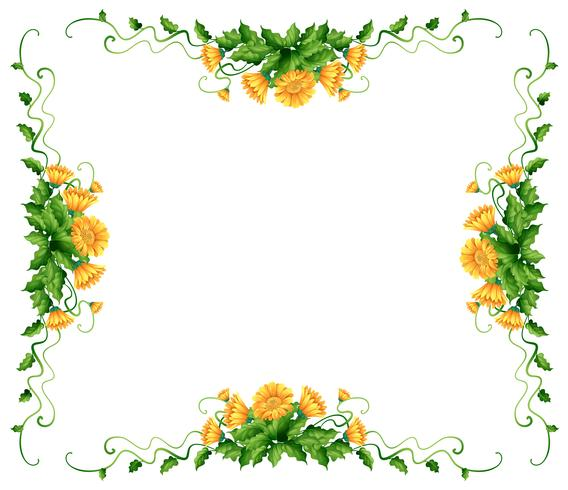 Frame design with yellow flowers - Download Free Vector Art, Stock Graphics & Images