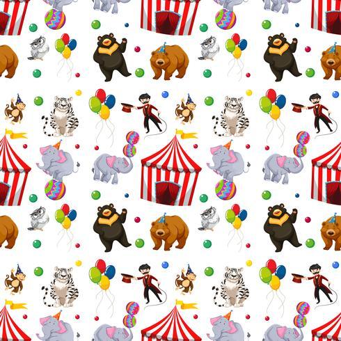 Um padrão de circo sem emenda
