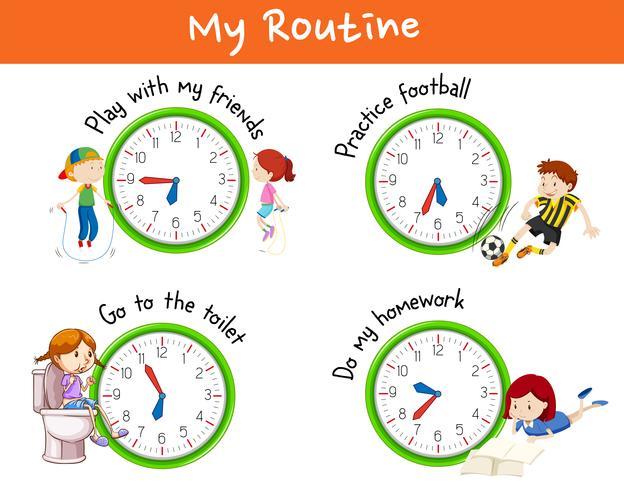Olika rutiner för barn